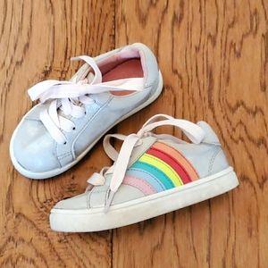 Cat & Jack Little Girls Rainbow Sneakers